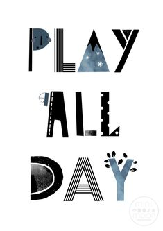 Play All Day - words for little (and big!) kids to live by. Inject fun and style to your nursery or play room with this fabulous Mini Moon Nursery print and see where your imagination takes you. Moon Nursery, Nursery Wall Art, Cute Christmas Wallpaper, Slogan Design, Nursery Modern, Contemporary Artwork, Kids Prints, Inspirational Message, Nursery Prints