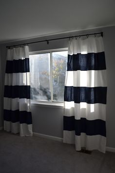 DIY - curtains from IKEA - Finished nursery curtains