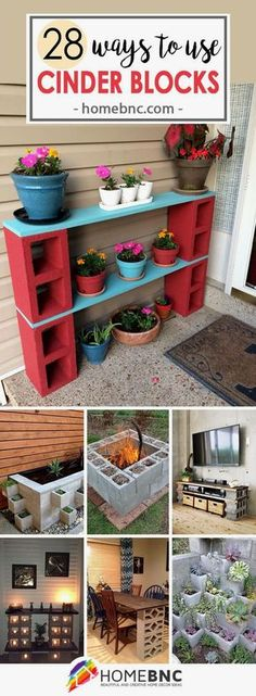 How to use cinder blocks around the house