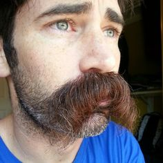 I moustache you a question. Beard No Mustache, Hairy Men, Bearded Men, Mustache Styles, Beard Love, Awesome Beards, Beard Styles, Facial Hair, Vintage Man