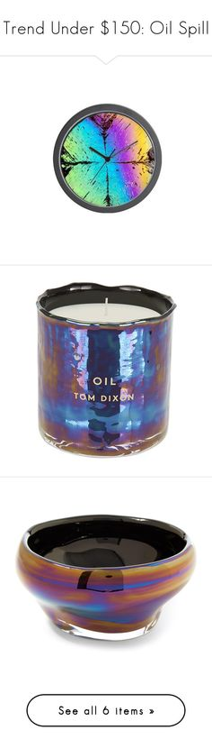 """Trend Under $150: Oil Spill"" by polyvore-editorial ❤ liked on Polyvore featuring oilspill, trendunder150, interior, interiors, interior design, home, home decor, interior decorating, Casetify and Tom Dixon"