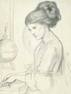 Dante Gabriel Rossetti (1828-1882) - Washing Hands, 1865