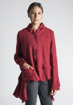 Rundholz Dip Textured Knit Jacket in Aperol | Santa Fe Dry Goods