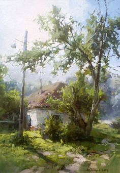 Painting (Picture) : an old house