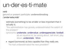 #underestimate