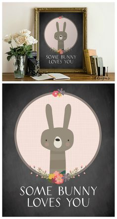 Cute Easter printable for your Easter decorations. Love this little bunny!