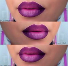 Really starting to like the ombré lip look. Super glam!