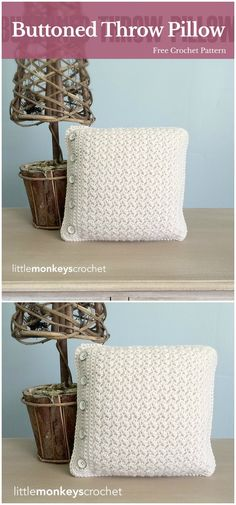 I have rounded up some cute and stunning free crochet pillow patterns for your inspiration. All of them are quite unique, interesting and super cute!Buttoned Throw Crochet Cover