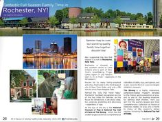 Rochester featured in Kids Naturally Magazine as a great fall family destination.