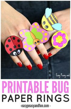 printable bug ring - bug craft - insect craft - acraftylife.com