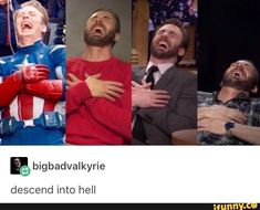Chris Evans laughing meme