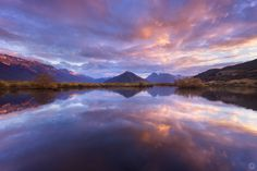 Glenorchy Lagoon and Mt. Alfred sunrise, New Zealand by Steve Arnold
