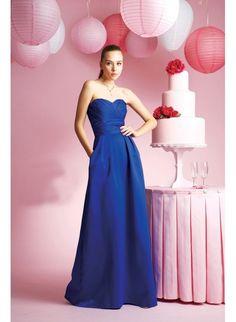 Taffeta+Sweetheart+Strapless+Neckline+with+Floor+Length+A+line+Skirt+Custom+Made+Bridesmaid+Dress+BM-0157