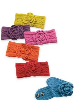 #MudPie Knit Flower #EarWarmers  Price : $20.00 http://www.whimsicalumbrella.com/Mud-Pie-Knit-Flower-Warmers/dp/B00FRHOC7I #whimsicalumbrella
