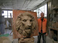 lion sculpture - Google Search