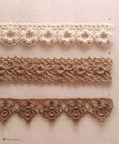 Irish Crochet Patterns - Japanese crochet ebook - Crochet F Crochet Edging Patterns, Crochet Lace Edging, Crochet Stitches Patterns, Lace Patterns, Thread Crochet, Crochet Trim, Crochet Crafts, Crochet Flowers, Crochet Edgings
