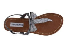 Steve Madden Women's Glittr Sandal  $39.95 - saw these today and the bow is SUPER CUTE