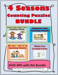 4 Seasons Counting Puzzles BUNDLE (Save 40% with bundle)