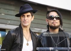 Perry Farrell (L) and Dave Navarro of Jane's Addiction attend the ceremony honoring them with a Star on The Hollywood Walk of Fame on October 30, 2013 in Hollywood, California.