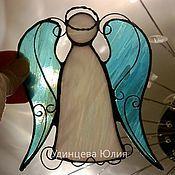 Для дома и интерьера ручной работы. Ярмарка Мастеров - ручная работа Витражный ангел.. Handmade.