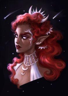 Simple portraits — Art by Lin Romanov Dark Fantasy Art, Beautiful Fantasy Art, Fantasy Girl, Fantasy Artwork, Simple Portrait, Portrait Art, Fantasy Character Design, Character Design Inspiration, Character Art