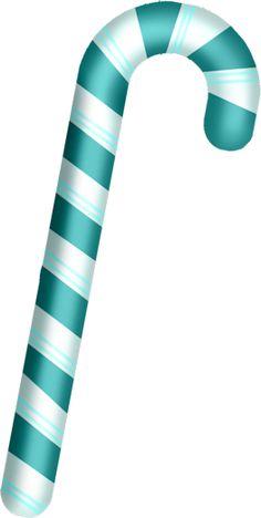 Scrapbook winter green candy cane clipart