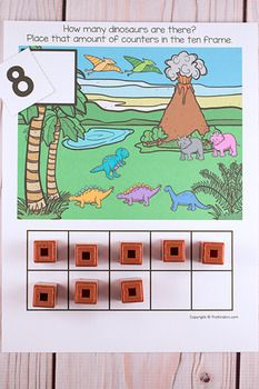 Dinosaurs Ten Frame Game (Pre-K + K Math)