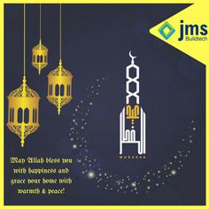May Allah bless you with happiness and grace your home with warmth & peace! Eid Mubarak!