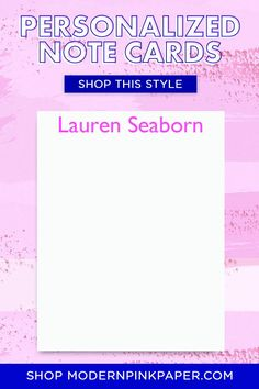 Simple Personalized Stationary for Women, Mens Personalized Stationery, Personalized Name Note Cards