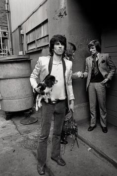 Keith Richards of the Rolling Stones with Boogie, 1971
