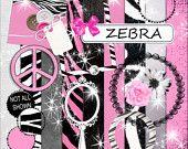 Digital Scrapbook Kit - Zebra