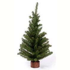 Pine Tree with Wood Base-18 inch
