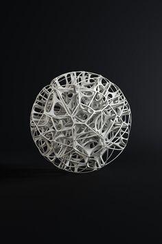 Esculturas Generative no Behance Art Fractal, Fractals, Impression 3d, 3d Design, Shape Design, Tin Tin Tin, Art Génératif, 3d Printing Diy, Futuristic Art
