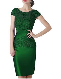 Fnina Women's Short Mother of Bride Dresses with Jacket Formal Gown M031 ** Check out this great product. (This is an affiliate link and I receive a commission for the sales)