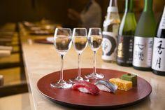 ヒルトン東京の 寿司カウンターで酒アペリティフ はいかが