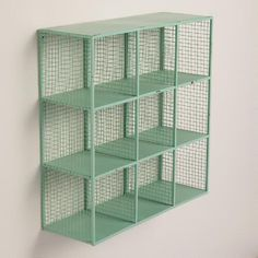 Aqua Braedyn Wire 9-Bin Wall Storage | World Market