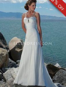 A-line Spaghetti Straps Sleeveless Chiffon Cheap Wedding Dress #USAHSMG175 - See more at: http://www.ellendress.com/wedding-dresses/cheap-wedding-dresses.html#sthash.zkA5chLX.dpuf