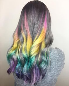 50 Stunning Rainbow Hair Color Styles Trending Now – Haare färben Red Hair Color, Cool Hair Color, Hair Colors, Colours, Pretty Hairstyles, Braided Hairstyles, Rainbow Hairstyles, Pelo Multicolor, Bayalage
