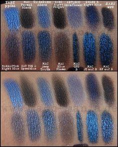 Magi's Blues - Blue Eyeshadow Swatch http://www.magi-mania.de/magis-blues/