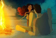 """BonFire"" - Illust. #PascalCampion -  #Love #Amore #Falò"
