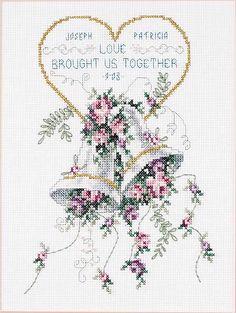 Janlynn Wedding Bells - Cross Stitch Kit - 123Stitch.com