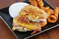 gastrogirl: chicken bacon ranch grilled cheese.