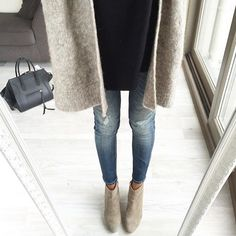 fall mornings #fluxuryss #street #style #streetstyle #jeans #denim #camel #boots #rippedjeans #fall #winter #blog #blogger #look #lookbook #dailylook #aboutalook #ootd #trends #trendy #accessories #cardigan #lifestyle #inspiration