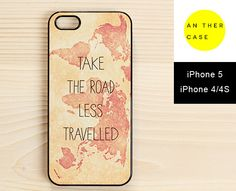 vintage map iphone case with quote. www.another-case.com