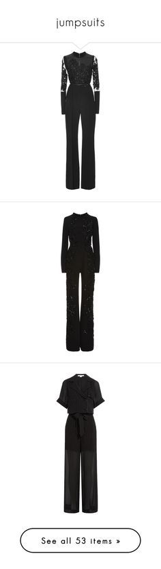 """jumpsuits"" by evenaka ❤ liked on Polyvore featuring jumpsuits, jumpsuit, open back jumpsuit, beaded jumpsuit, elie saab, crepe jumpsuit, elie saab jumpsuit, long sleeve jump suit, jump suit and long sleeve jumpsuit"