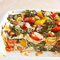 Vegetarian Four Cheese Lasagna Allrecipes.com | Recipes | Pinterest ...