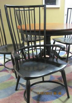 Thomasville Furniture Cinnamon Hill Windsor Chairs Set 2 arms & 2 sides