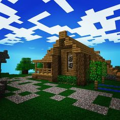 Minecraft. A much better house than I make XD