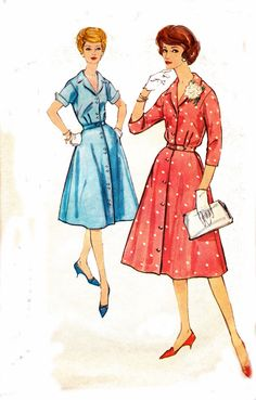 60s Shirtdress Sewing Pattern Simplicity by allthepreciousthings, $18.00