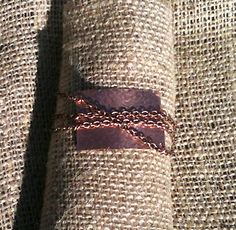 Hand Hammered Copper & Multi Strand Chain Bracelet    http://www.etsy.com/shop/MetalsByMelissa